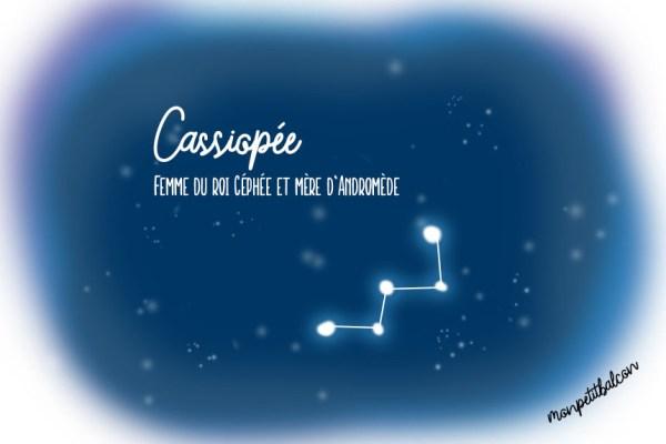 Constellation de Cassiopée dessinée Nuit des étoiles 2016