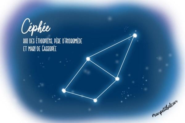 Constellation de Céphée dessinée Nuit des étoiles 2016
