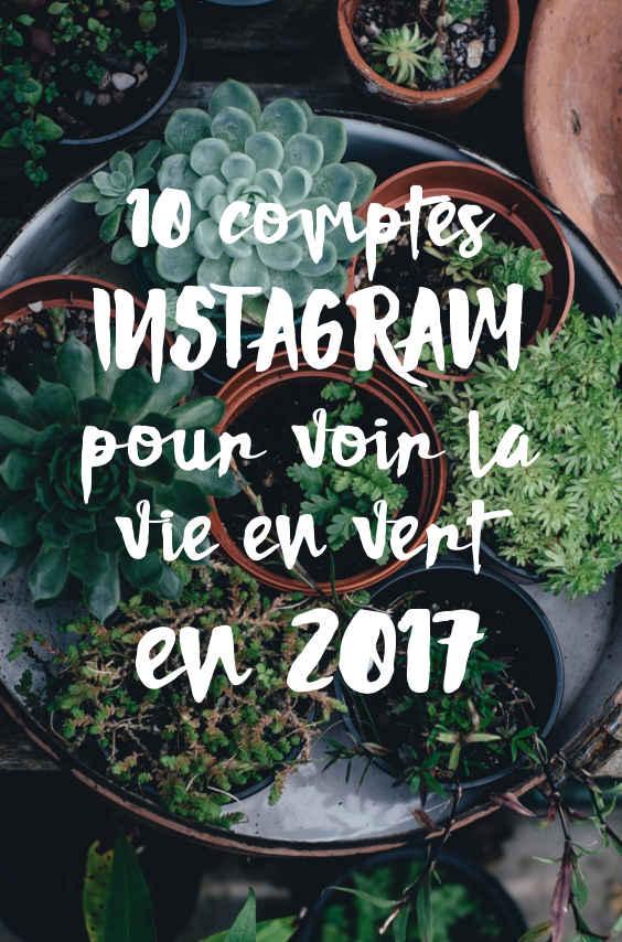 10 comptes Instagram pour voir la vie en vert en 2017 pinterest
