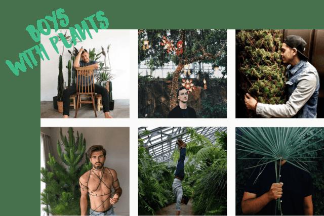 10 comptes Instagram pour voir la vie en vert en 2017 boys with plants