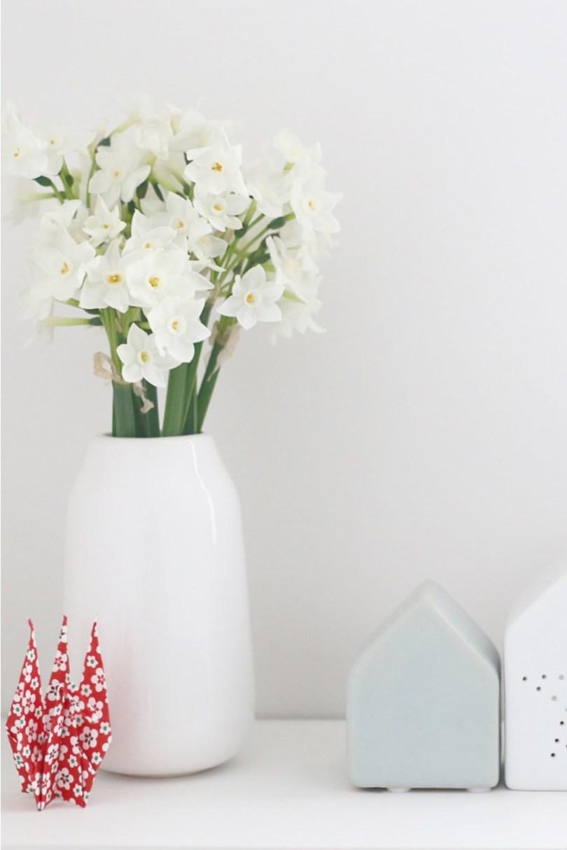 bouquet narcisse blanche