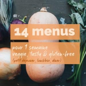 14 menus pour 1 semaine de repas veggie, tasty et gluten-free (petit déjeuner, lunchbox, dîner)