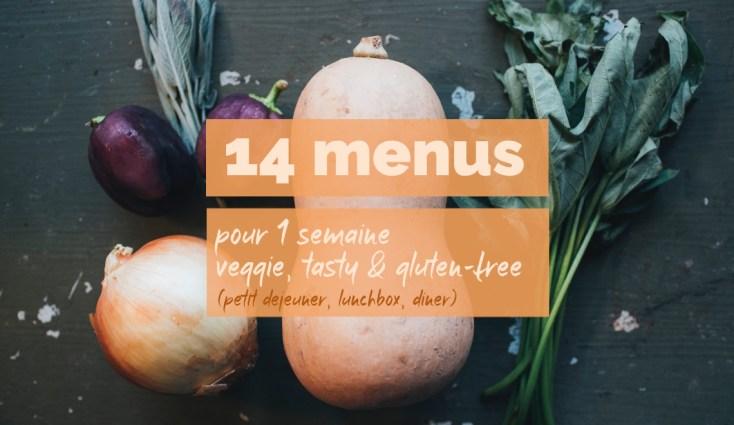 14 menus pour 1 semaine de repas veggie, tasty et gluten-free (petit déjeuner, lunchbox, dîner) | Mon petit balcon