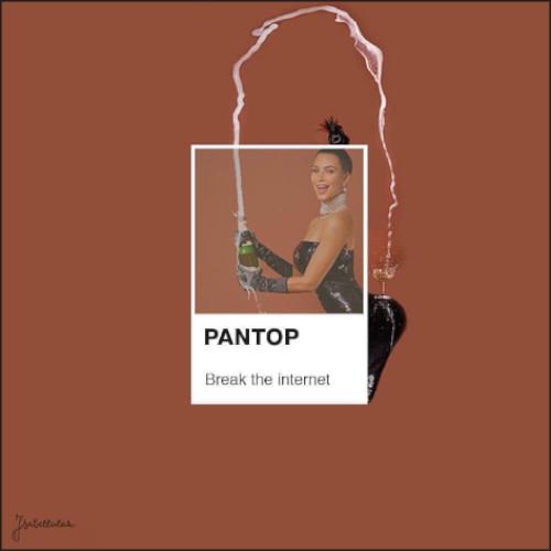 pantone kim kardashian par Isabelle Montan
