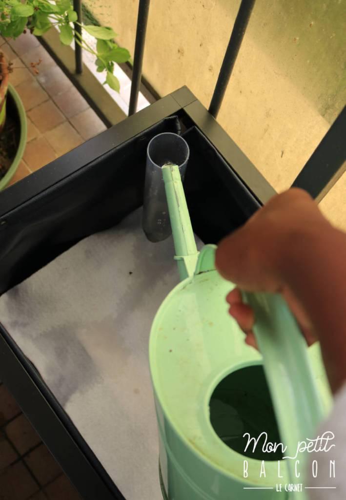 installation du bac potager noocity