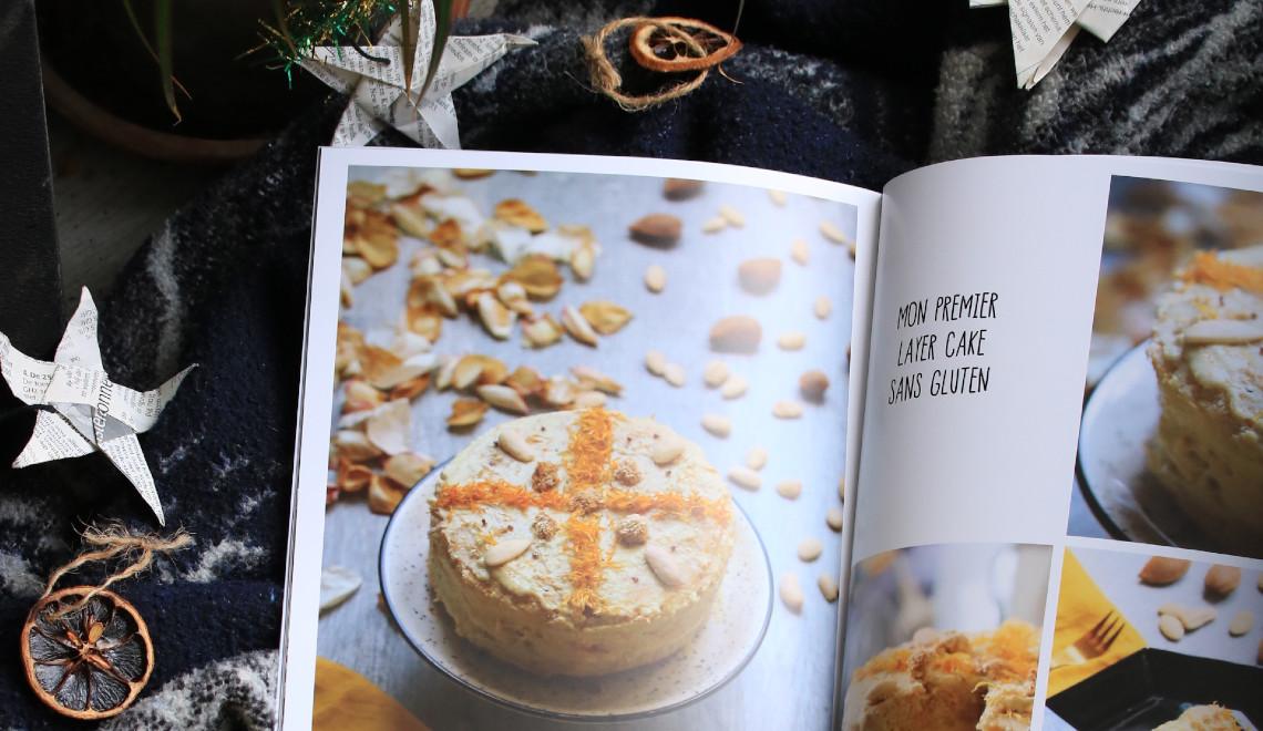 souvenirs de mes premières pâtisseries vegan et sans gluten dans un album photo