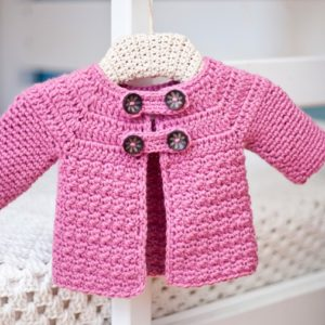 Free pattern, Buttoned Jacket, crochet pattern by Mon Petit Violon