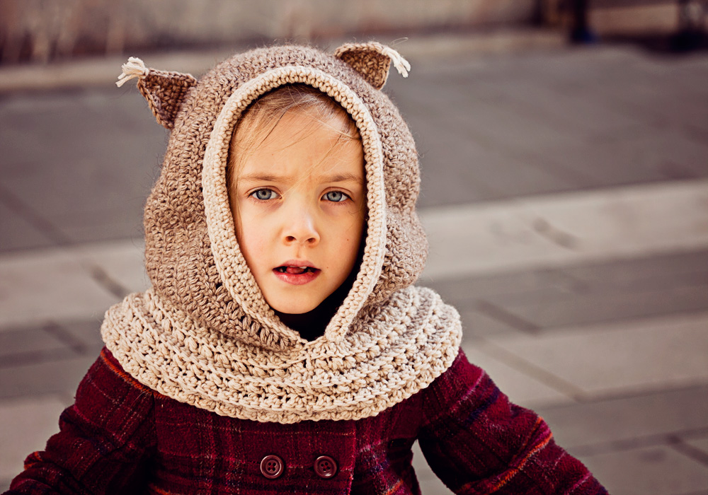 Squirrel Hooded Cowl
