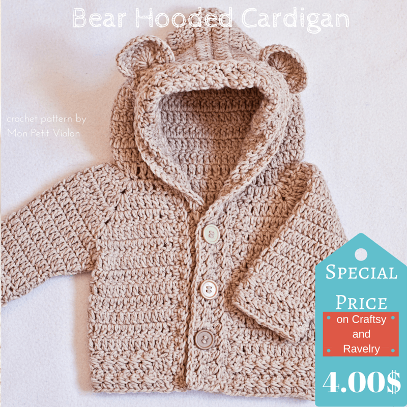 Bear Hooded Cardigan pattern is finally here!