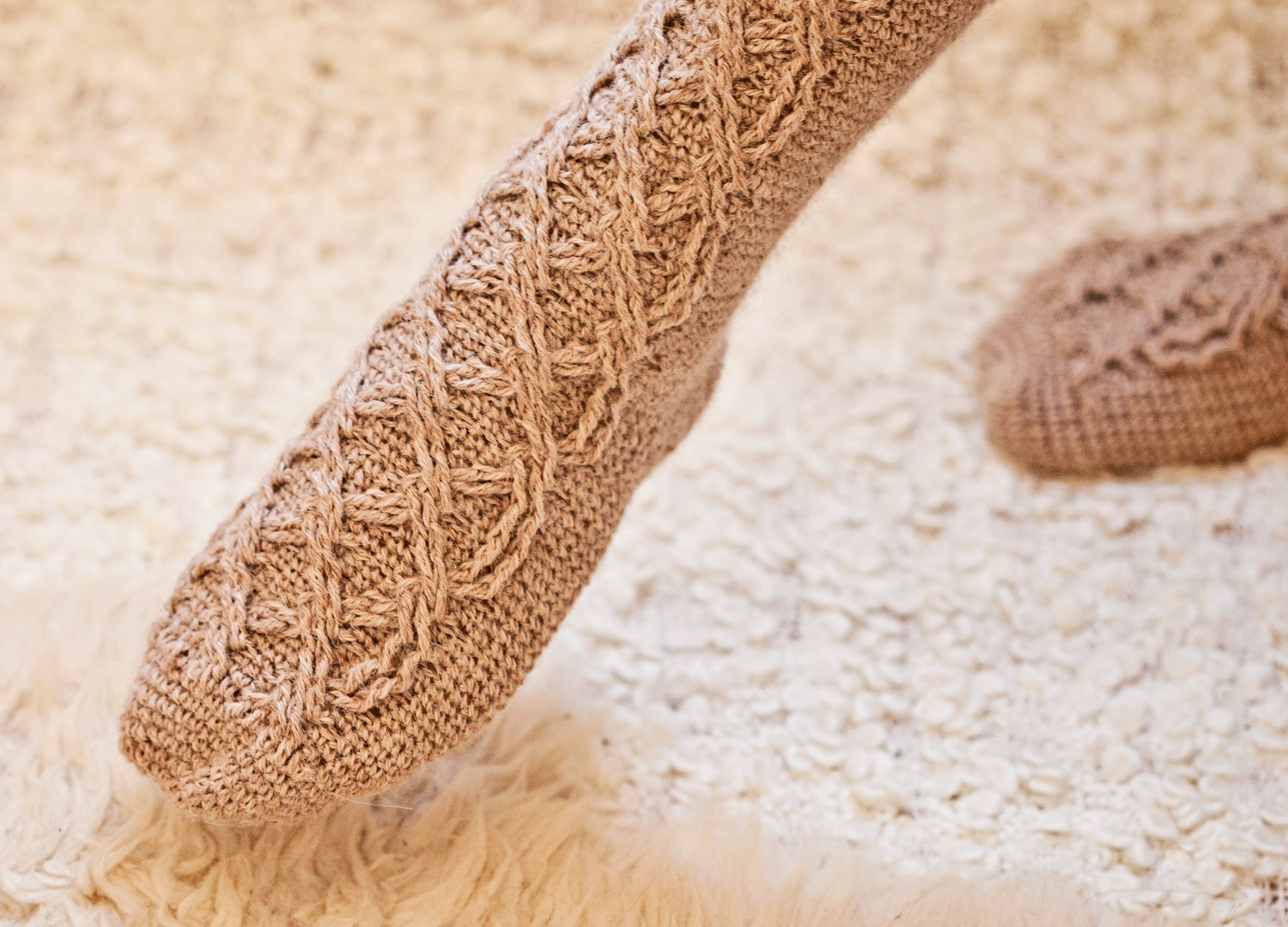 Learn how to make perfect crochet Cable Socks!