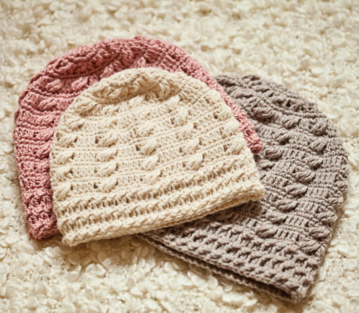 Cable Beanie, crochet pattern by Mon Petit Violon