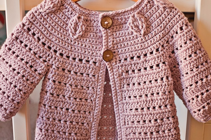 Falling Leaves Cardigan, crochet pattern by Mon Petit Violon