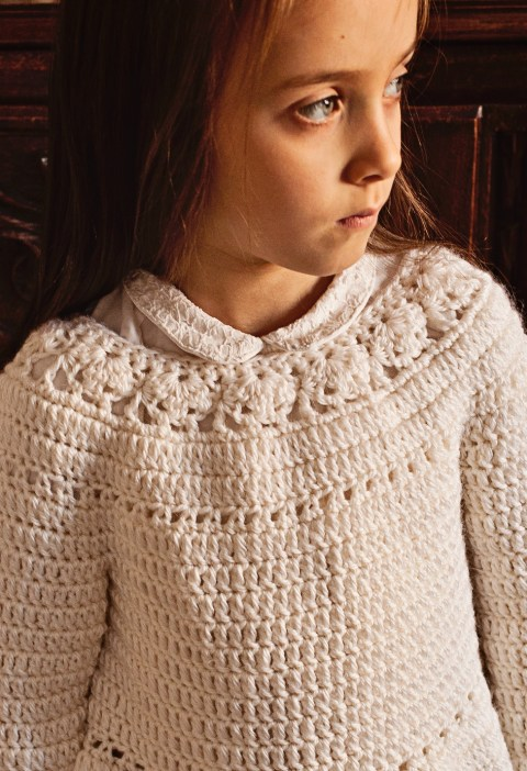 Flower Peplum Sweater, crochet pattern by Mon Petit Violon