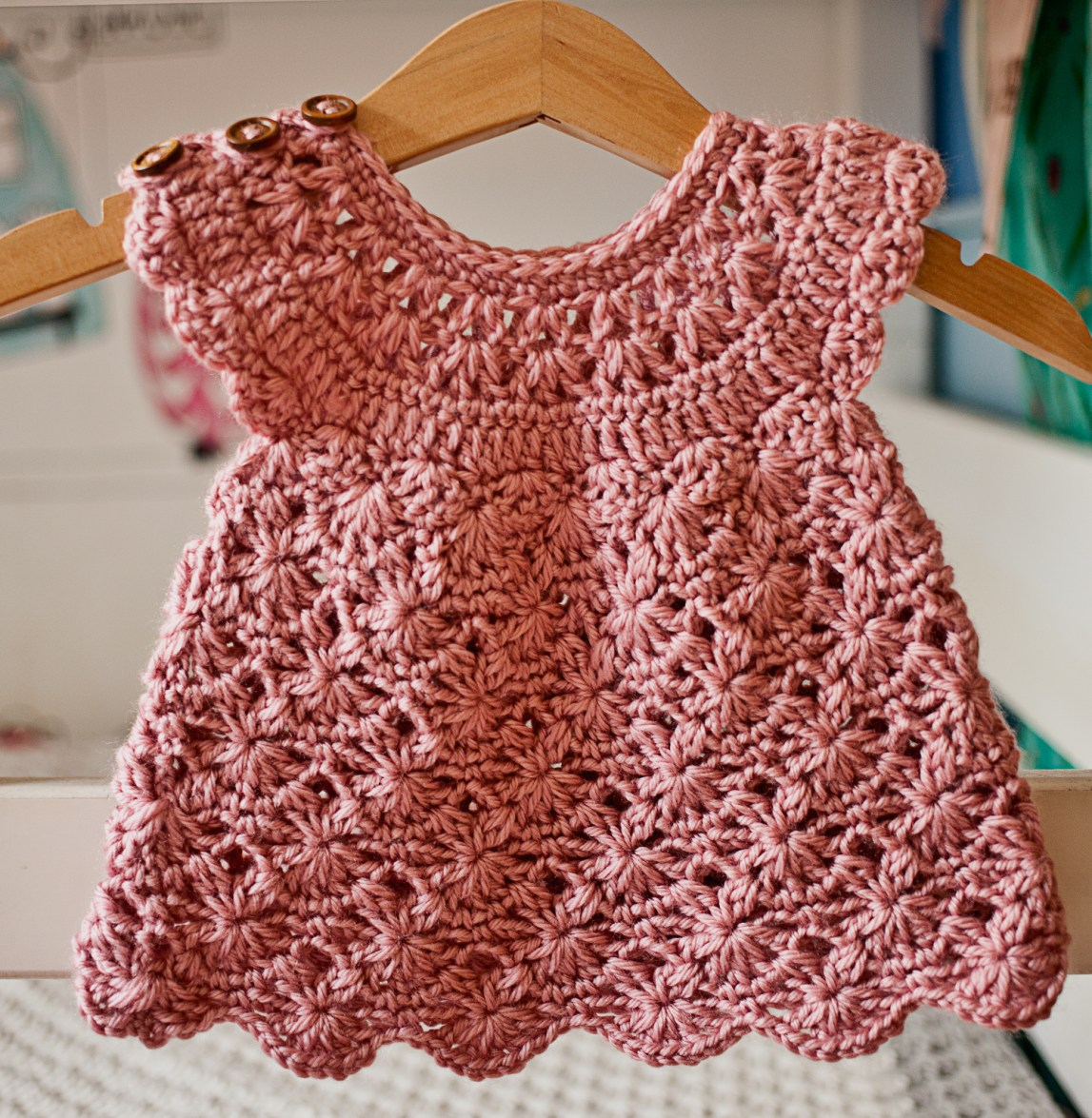 Rose Blush Dress, crochet pattern by Mon Petit Violon