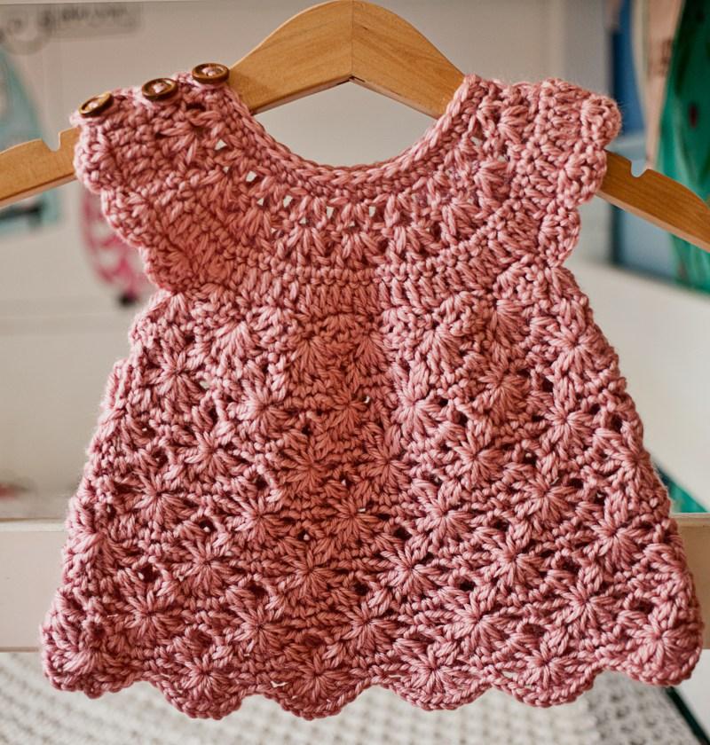 Rose Blush Dress, crochet pattern by Mon Petit Violon