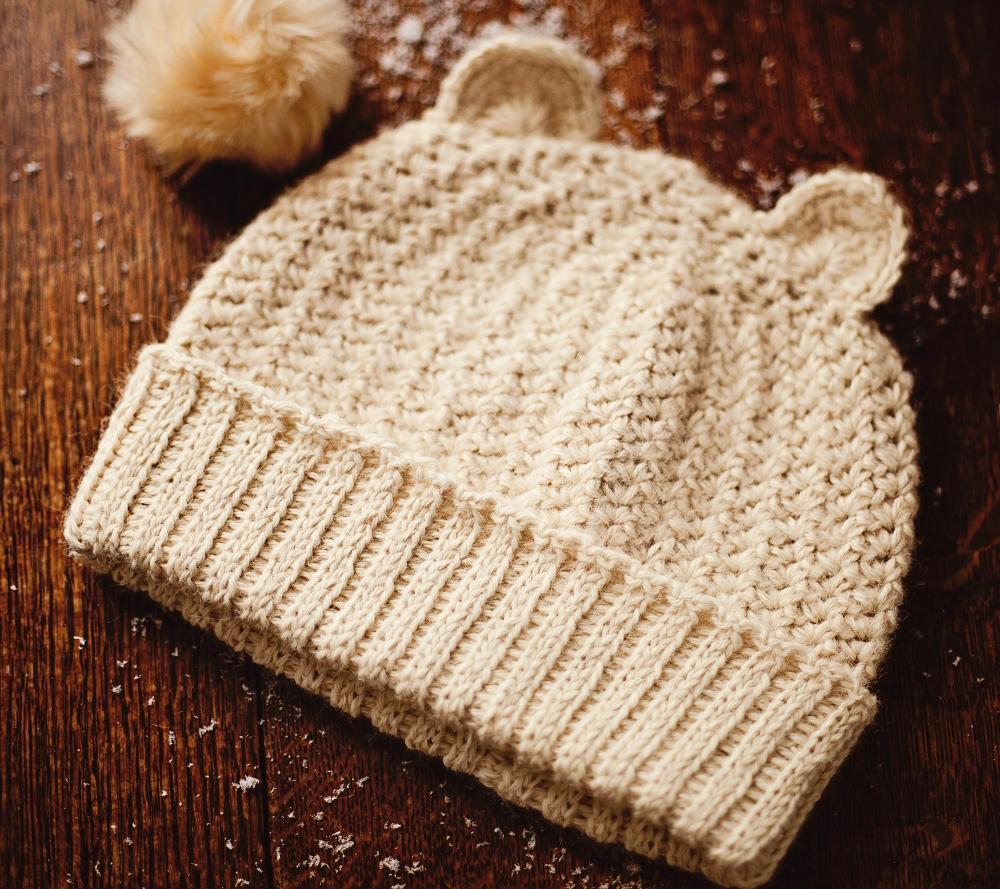 Knit-look Beanie by Mon Petit Violon, www.monpetitviolon.etsy.com