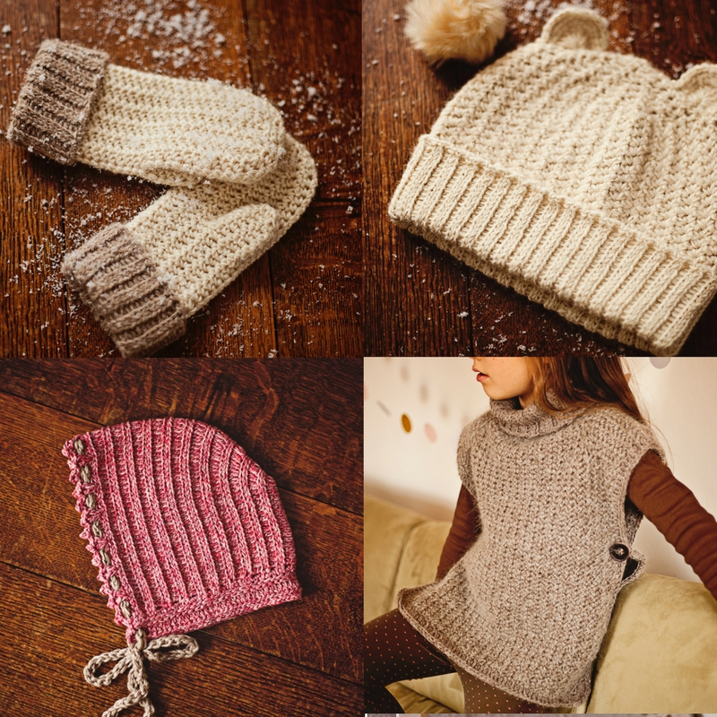 Mini Knit-look collection - easy crochet technique!