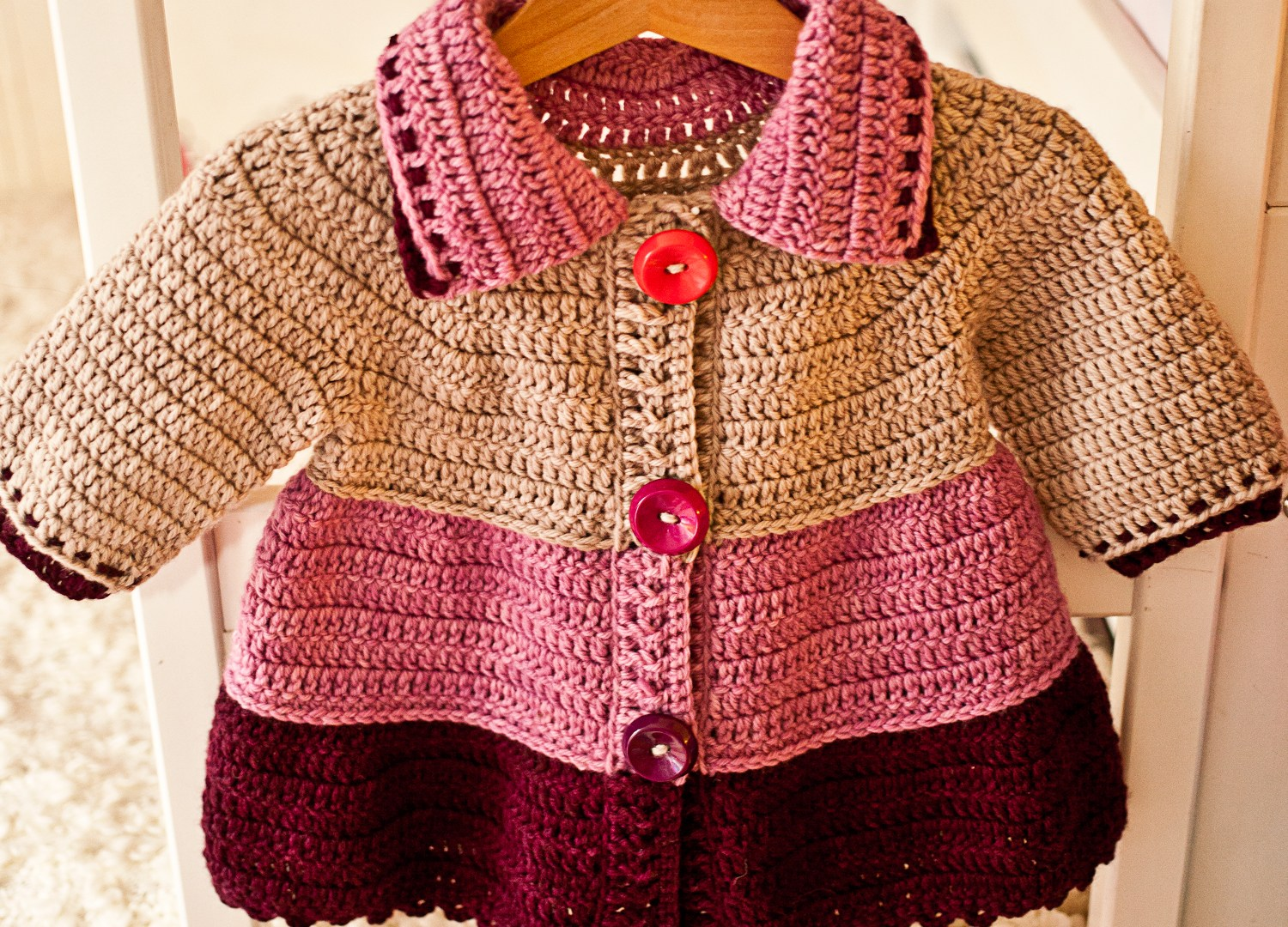 Crochet Tiered Jacket – super cute garment for your little one!