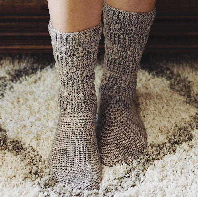 Pear Socks, Inside Crochet 101, pattern by Mon Petit Violon