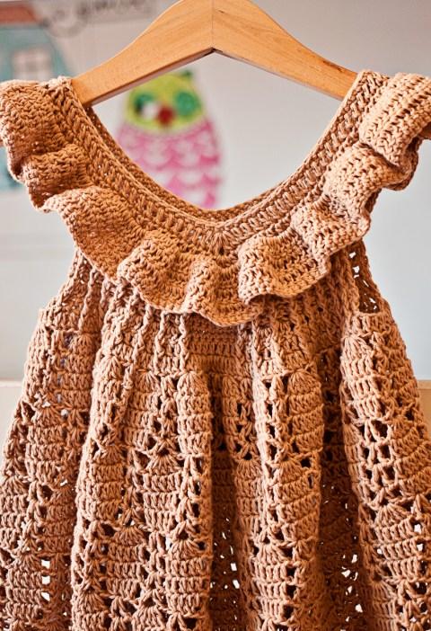 Truffle Ruffle Dress, crochet pattern by Mon Petit Violon