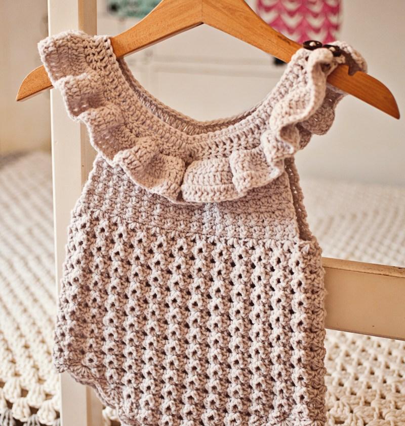 Ruffle Romper - crochet pattern by Mon Petit Violon