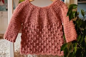 Raindrops Sweater, crochet pattern by Mon Petit Violon