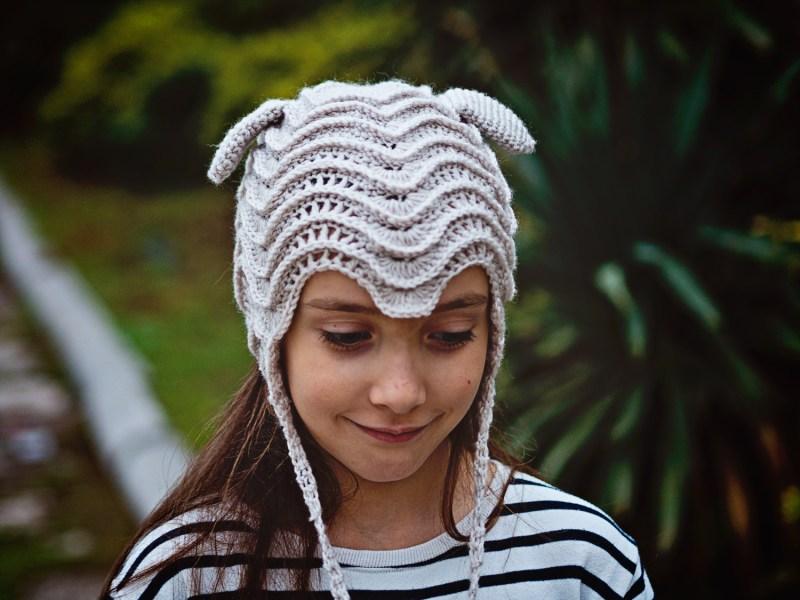 Baby Lamb Bonnet, crochet pattern by Mon Petit Violon