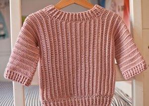 Winter Garden Sweater, crochet pattern by Mon Petit Violon