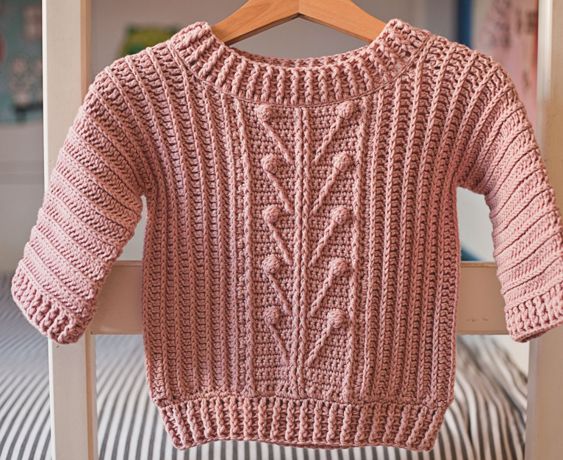 Winter Garden Sweater, crochet pattern by Mon Petit Violon
