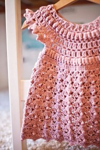 Like a Pink Cloud Dress, crochet pattern by Mon Petit Violon