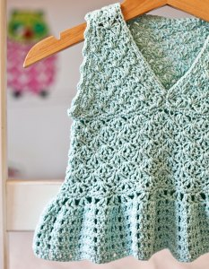 Peplum Top - crochet pattern by Mon Petit Violon