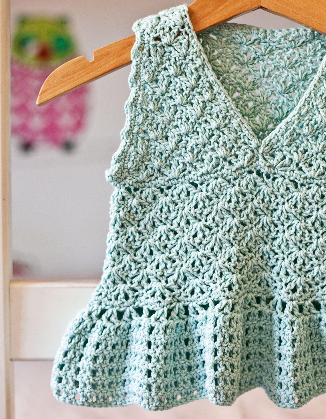 Peplum Top - crochet pattern by Mon Petit Violon
