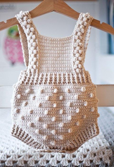 Bobble Romper, crochet pattern by Mon Petit Violon