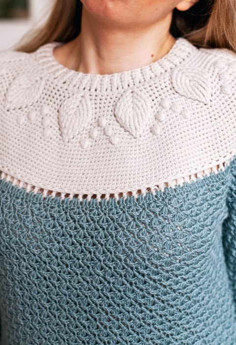crochet pattern Ladies Harvest Sweater, www.monpetitviolon.com