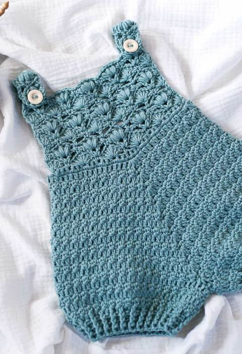 Gemma Rompers, crochet pattern by Mon Petit Violon