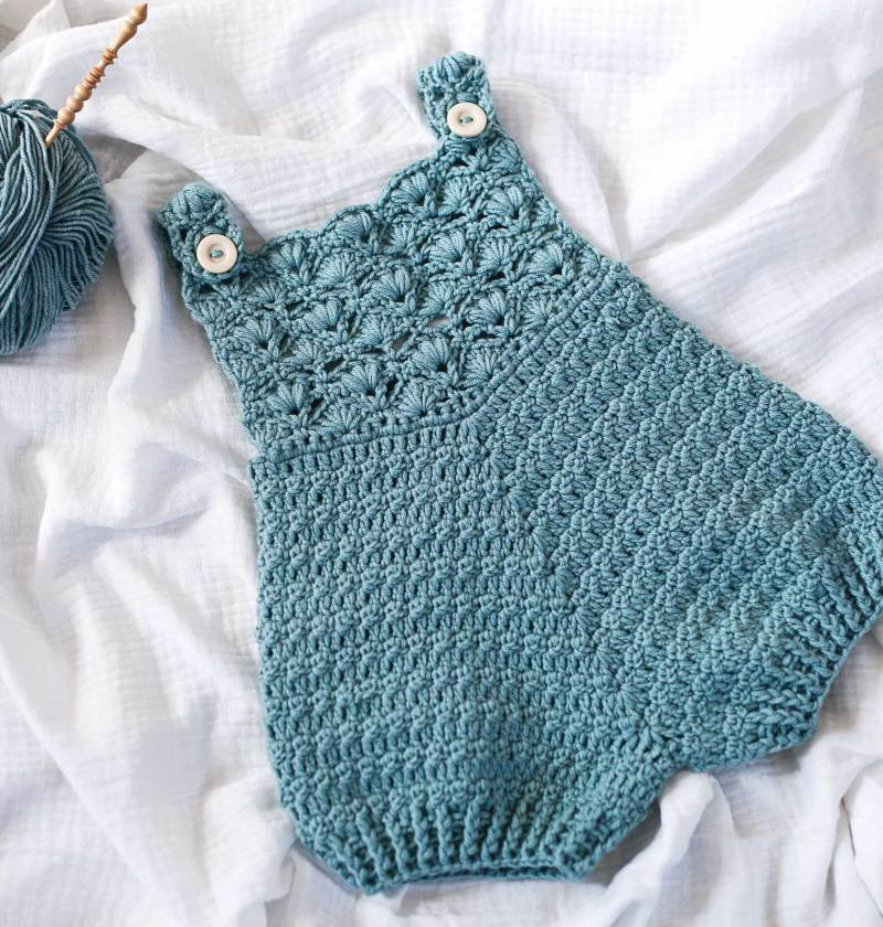 Gemma Rompers, crochet pattern by Mon Petit Violon