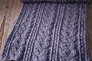 Cable Scarf, crochet pattern by Mon Petit Violon