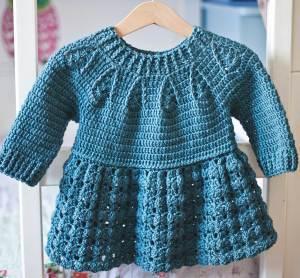 Peplum Sweater Dress, crochet pattern by Mon Petit Violon