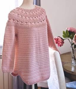 Mama Ester Sweater, crochet pattern by Mon Petit Violon