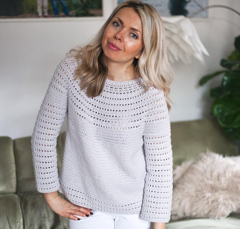 Pearl Sweater, crochet pattern by Mon Petit Violon