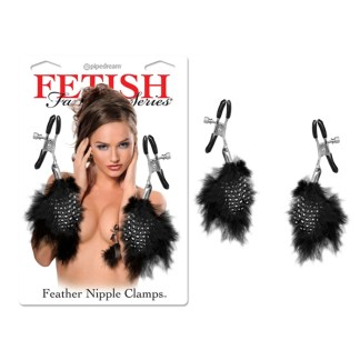 Feather Nipple Clamps - Pinces à Mamelons avec Plumes - Fetish Fantasy Series