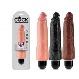 8 Vibrating Stiffy - King Cock