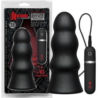 Vibrating Silicone Butt Plug - Rippled 7.5 - Kink.com - Doc Jonhson
