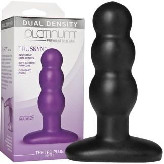 The Tru Plug Ripple - Platinum Premium Silicone - Plug Anale - Doc Jonhson