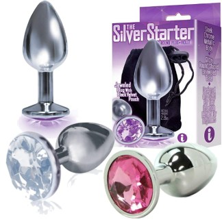The Silver Starter - Plug Anale avec Bijou - Icon Brands