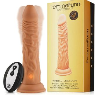 Wireless Turbo Shaft - Vortex Series 2.0 - Vibrateur Réaliste Rechargeable - FemmeFunn