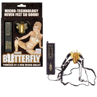Micro Butterfly - Sangles avec Stimulateur Clitoridien - California Exotics