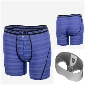 Nu Athletic - Boxer Long - Bleu Rayé - BODYSKIN