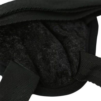 Vibrating Black Velvet Strap-On - Harnais - Sportsheets