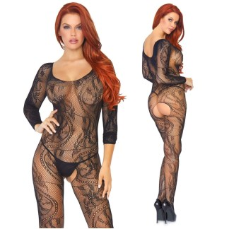 Bodystocking en Dentelle Tourbillonnante - 891081 - Leg Avenue